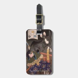 1867年頃大きいこうもりを戦うMiyamoto Musashi ラゲッジタグ