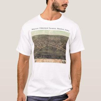 1868パノラマ式の地図を持つマリオンの史学会 Tシャツ
