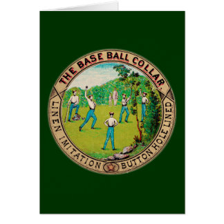1868年のヴィンテージの野球つばのロゴ カード