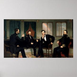 1868年の調印者の絵を描くこと ポスター