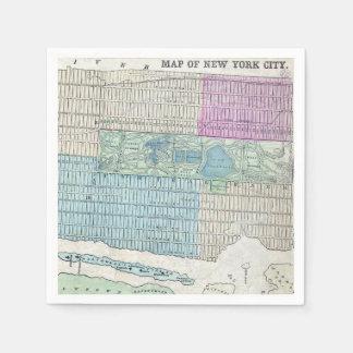 1870地図ニューヨークシティセントラル・パーク スタンダードカクテルナプキン