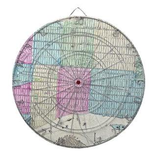1870地図ニューヨークシティセントラル・パーク ダーツボード