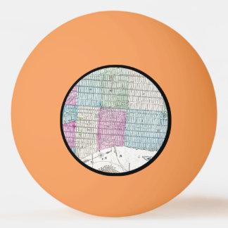 1870地図ニューヨークシティセントラル・パーク 卓球ボール