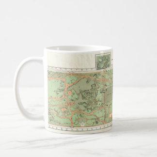 1870年のセントラル・パークの地図のマグ コーヒーマグカップ