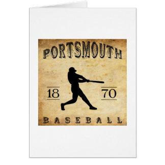 1870年のポーツマスオハイオ州の野球 カード