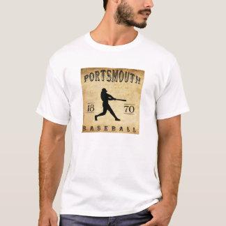 1870年のポーツマスオハイオ州の野球 Tシャツ