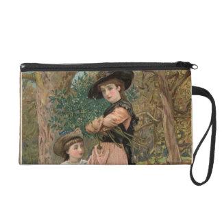 1870年頃: ヤドリギを集めている若い女の子 リストレット