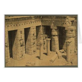 1870年頃Ramses III.エジプトの寺院 カード