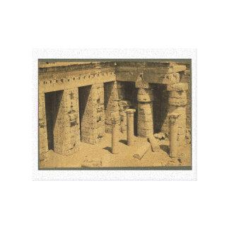 1870年頃Ramses III.エジプトの寺院 キャンバスプリント