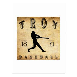 1871年のイリオスニューヨークの野球 ポストカード