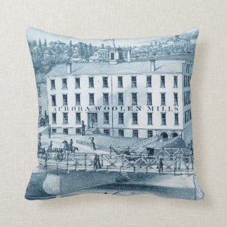 1871年のオーロラのイリノイの毛織の製造所 クッション