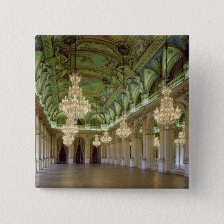 1871年後のグランデSalle desの祝日の眺め、 5.1cm 正方形バッジ
