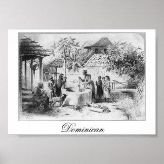 1871年頃古代ドミニカ共和国の絵画 ポスター