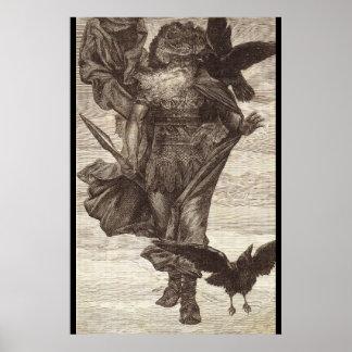 1871年Odin、戦争の北の神の ポスター