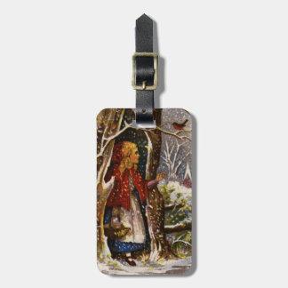 1872年頃: クリスマスの挨拶状 ラゲッジタグ
