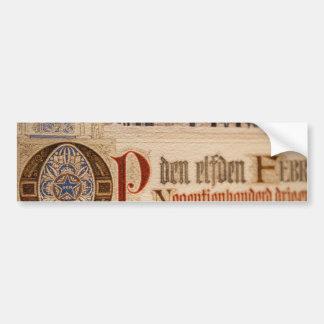 1873匹のアンティークの証明書のヴィンテージの紙 バンパーステッカー