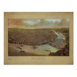 1873年からのジョージDegen著セントルイスミズーリ ポストカード