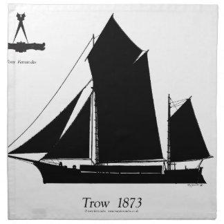 1873年trow -贅沢なfernandesの ナプキンクロス
