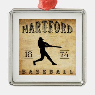 1874年のハートフォードコネチカットの野球 メタルオーナメント