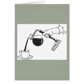 1875年のコーヒー濾過器のデザイン カード