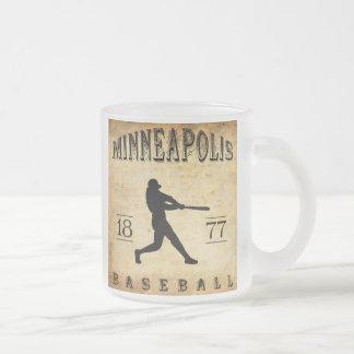 1877年のミネアポリスミネソタの野球 フロストグラスマグカップ