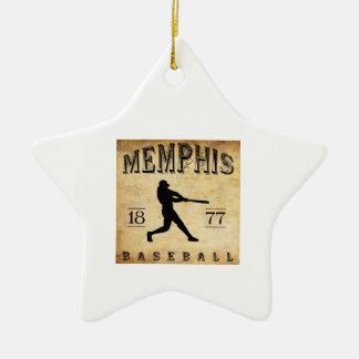 1877年のメンフィステネシー州の野球 セラミックオーナメント