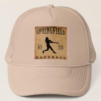 1878年のスプリングフィールドマサチューセッツの野球 キャップ