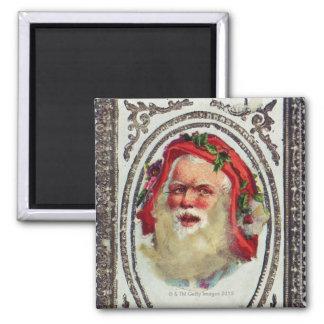 1878年: ビクトリア時代の人のクリスマスの挨拶状 マグネット