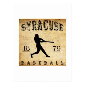 1879年のシラキュースニューヨークの野球 葉書き