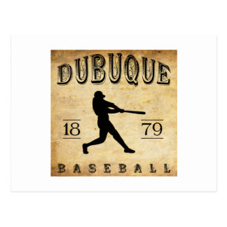 1879年のDubuqueアイオワの野球 ポストカード