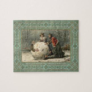 1879年頃: 雪の2人の女性ロール人 ジグソーパズル