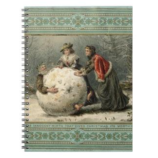 1879年頃: 雪の2人の女性ロール人 ノートブック