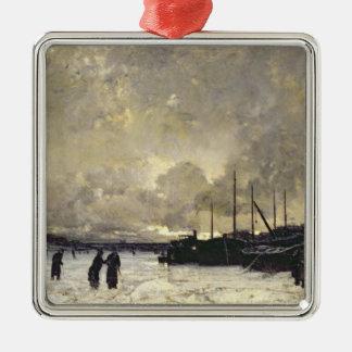 1879年12月のセーヌ河 メタルオーナメント