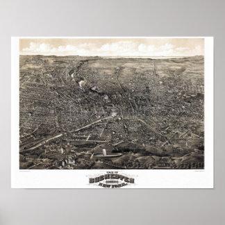 1880年代のロチェスターニューヨークのパノラマ ポスター