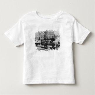 1880年代の北のロンドンの市街電車を蒸気を発して下さい トドラーTシャツ
