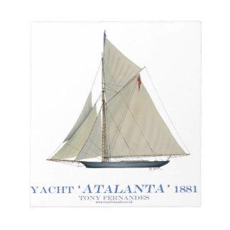 1881年のAtalanta ノートパッド