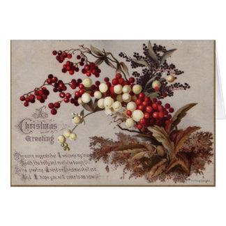 1882年: 伝統的なヒイラギの果実 カード