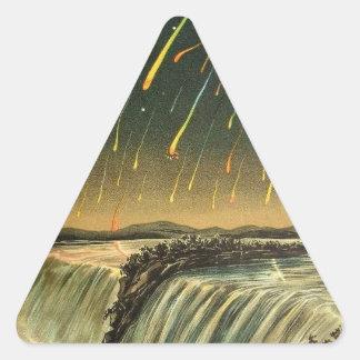 1883年からのLeonidの流星の嵐の絵画 三角形シール