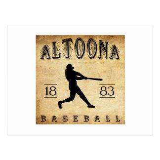 1883年のアルトゥーナペンシルバニアの野球 ポストカード