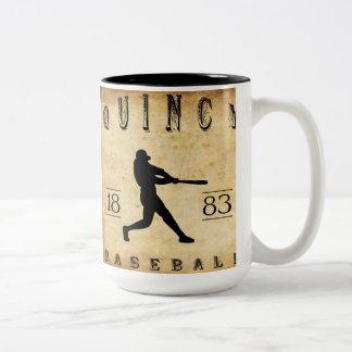 1883年のクインシーイリノイの野球 ツートーンマグカップ