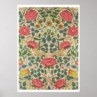 、1883年は「上がりました」(印刷された綿) ポスター