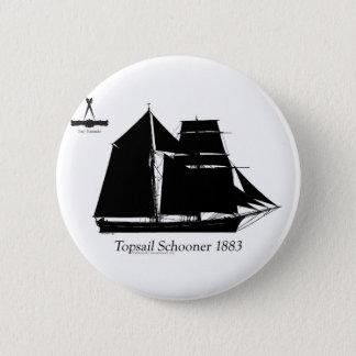 1883年topsailのスクーナー船-贅沢なfernandesの 缶バッジ