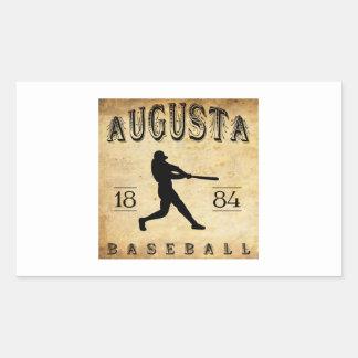 1884年のオーガスタジョージアの野球 長方形シール