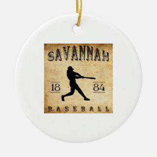 1884年のサバンナのジョージアの野球 セラミックオーナメント