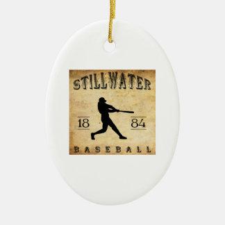 1884年のStillwaterミネソタの野球 セラミックオーナメント