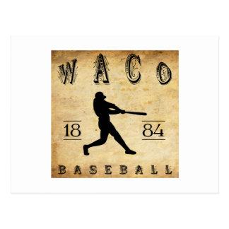 1884年のWacoテキサス州の野球 ポストカード