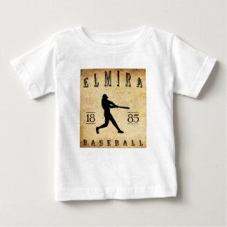 1885年のエルマイラニューヨークの野球 ベビーTシャツ