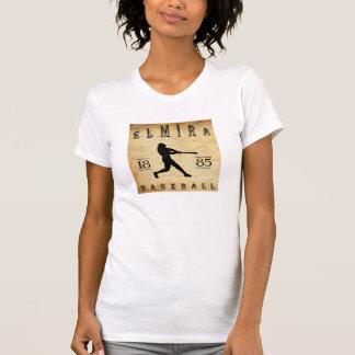 1885年のエルマイラニューヨークの野球 Tシャツ