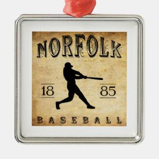 1885年のノーフォークヴァージニアの野球 メタルオーナメント