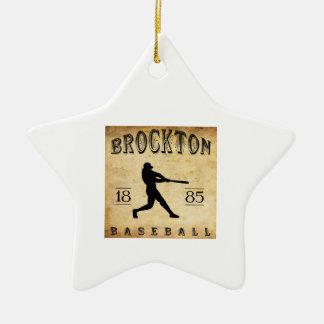 1885年のBrocktonマサチューセッツの野球 セラミックオーナメント